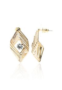 Rectangle stone detailed earring