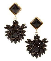 Meras black hand made earrings