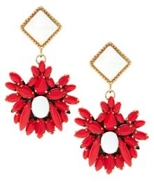 Meras red hand made earrings