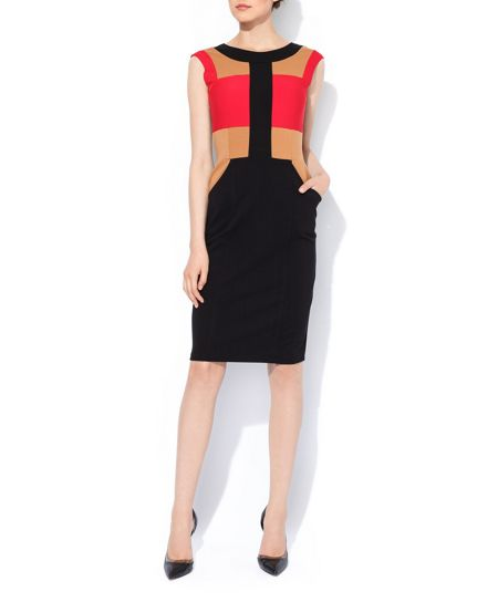 MAIOCCI Collection Sleeveles Colour Block Bodycon Dress