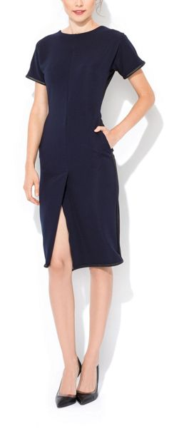 MAIOCCI Collection Fitted Short Sleeve Dress