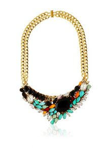 MAIOCCI Collection Gold Multicolor locket necklace