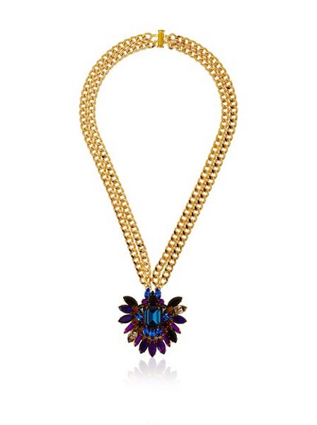 MAIOCCI Collection Hand Painted Swarovski Crystals Necklace