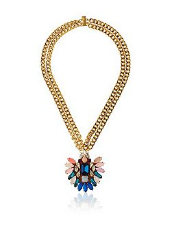 Gold Multicolor locket necklace