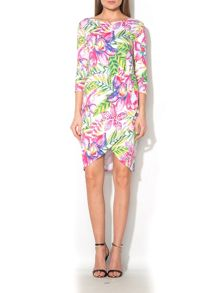MAIOCCI Collection Floral Draped Dress