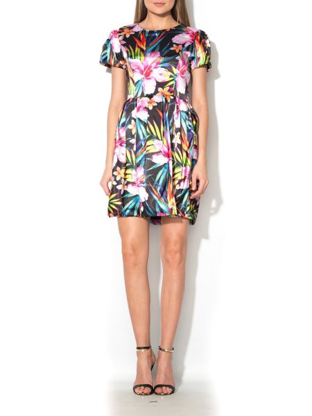 MAIOCCI Collection Printed Fit and Flare Dress