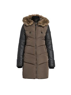 Ashley elegant long down coat