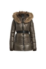 Heather luxurious down coat