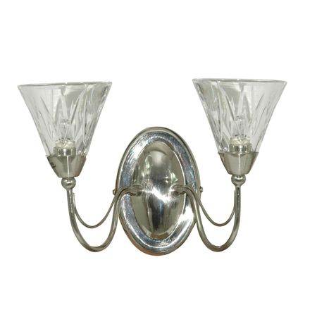 House of Fraser Reims crystal 2 arm wall light - review, compare prices, buy online