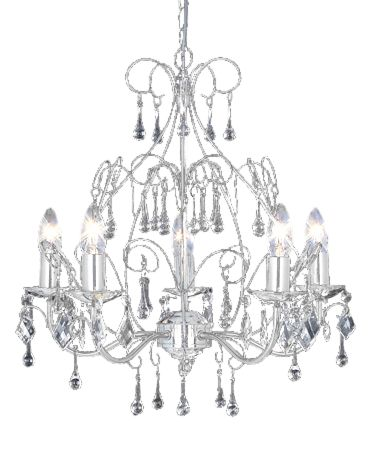 Florrance satin silver 5 arm ceiling pendant by House of Fraser
