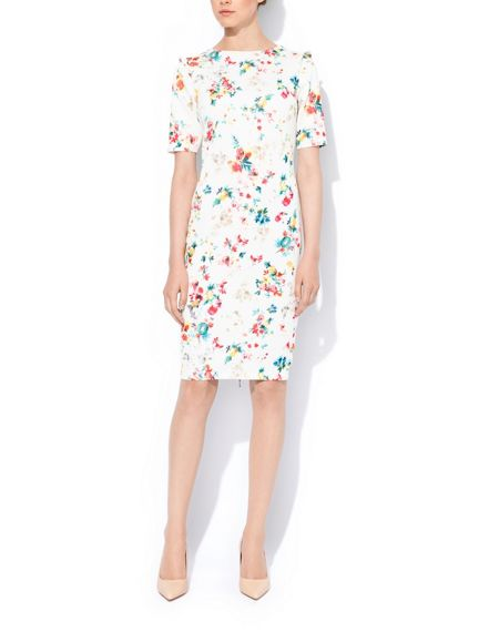 MAIOCCI Collection Flower Bodycon Longsleeve Dress