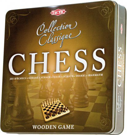 Wooden Chess Tin Box