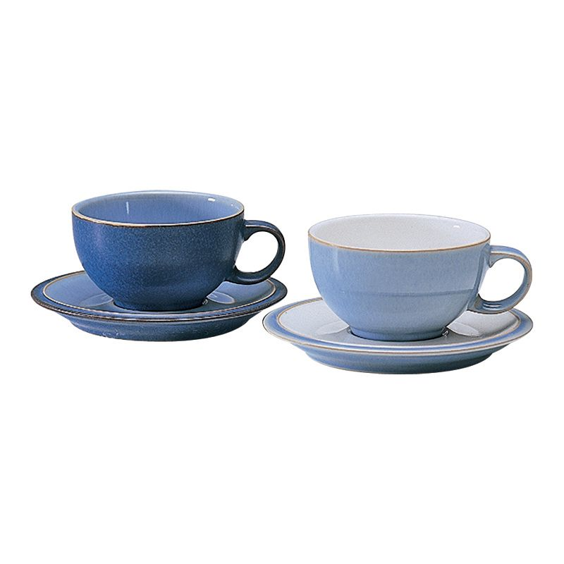 Blue jetty tea saucer