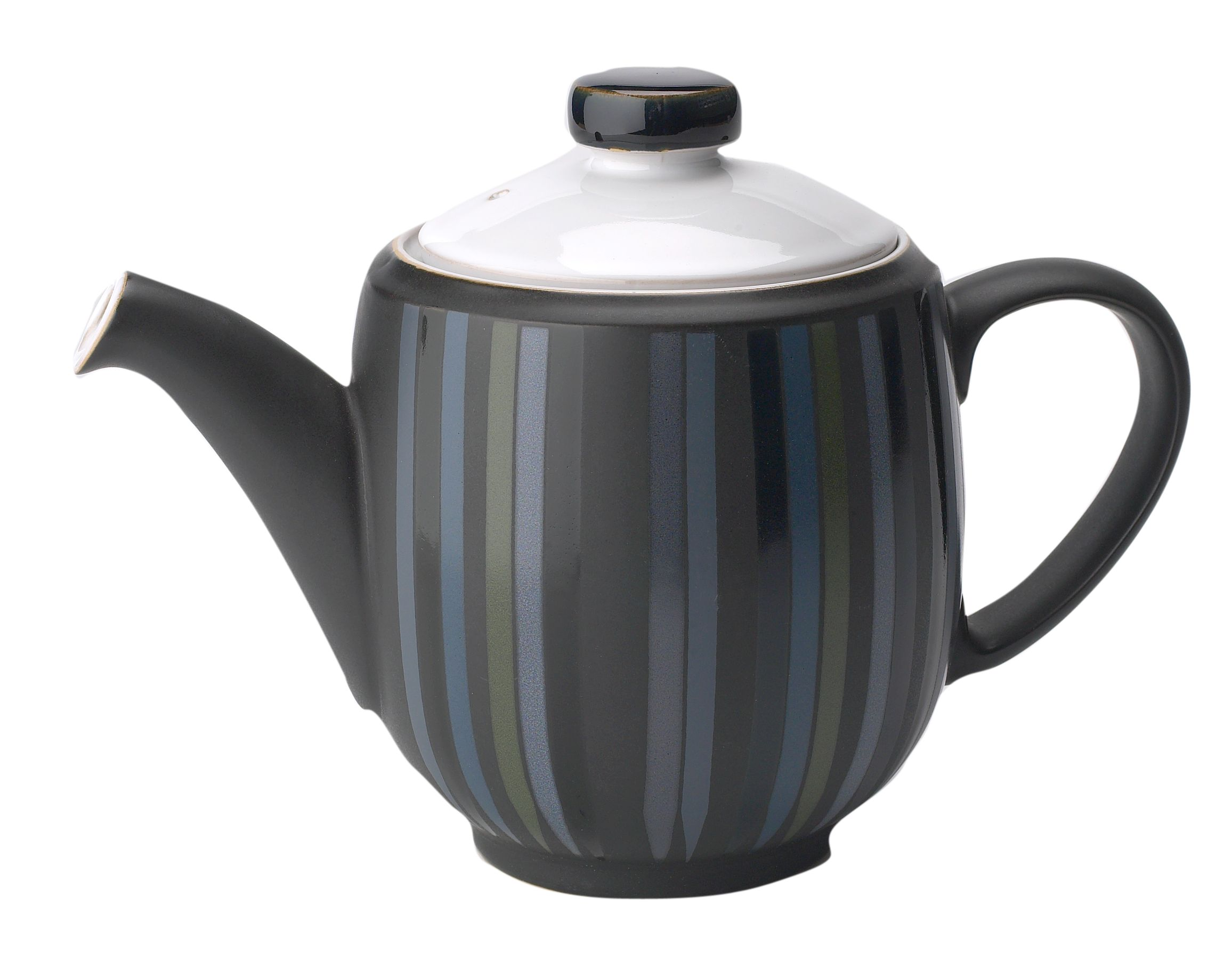 Jet stripes large teapot
