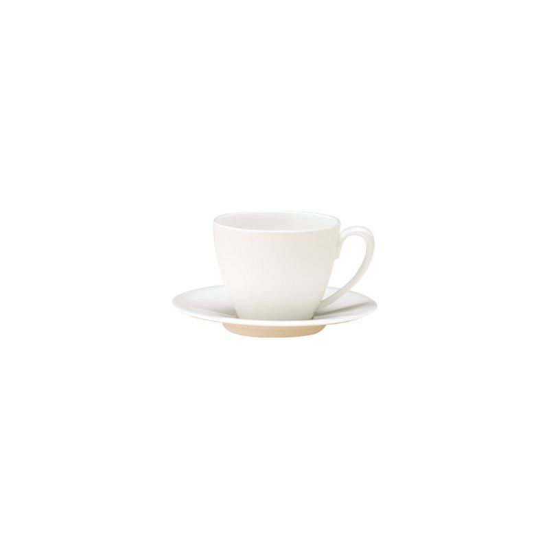 White bone china coffee saucer
