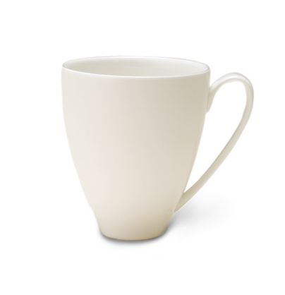 White bone china large mug