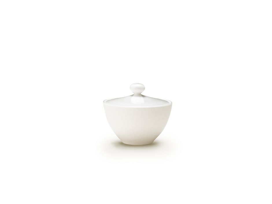 White Bone China Sugar Bowl
