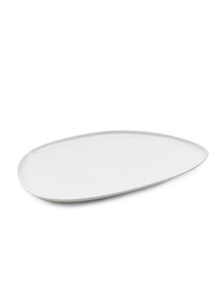 White Bone China Platter
