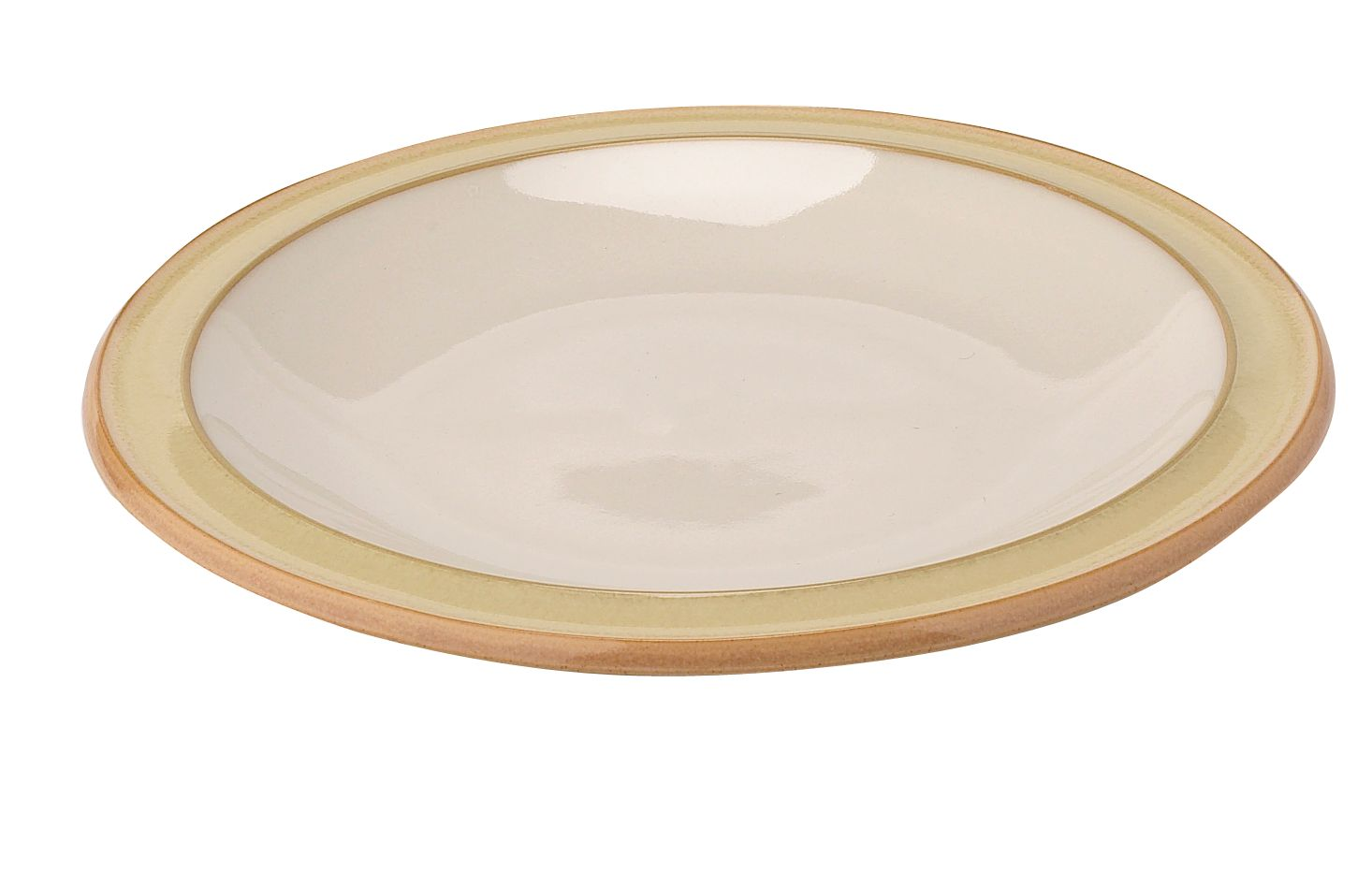 Caramel plain tea plate