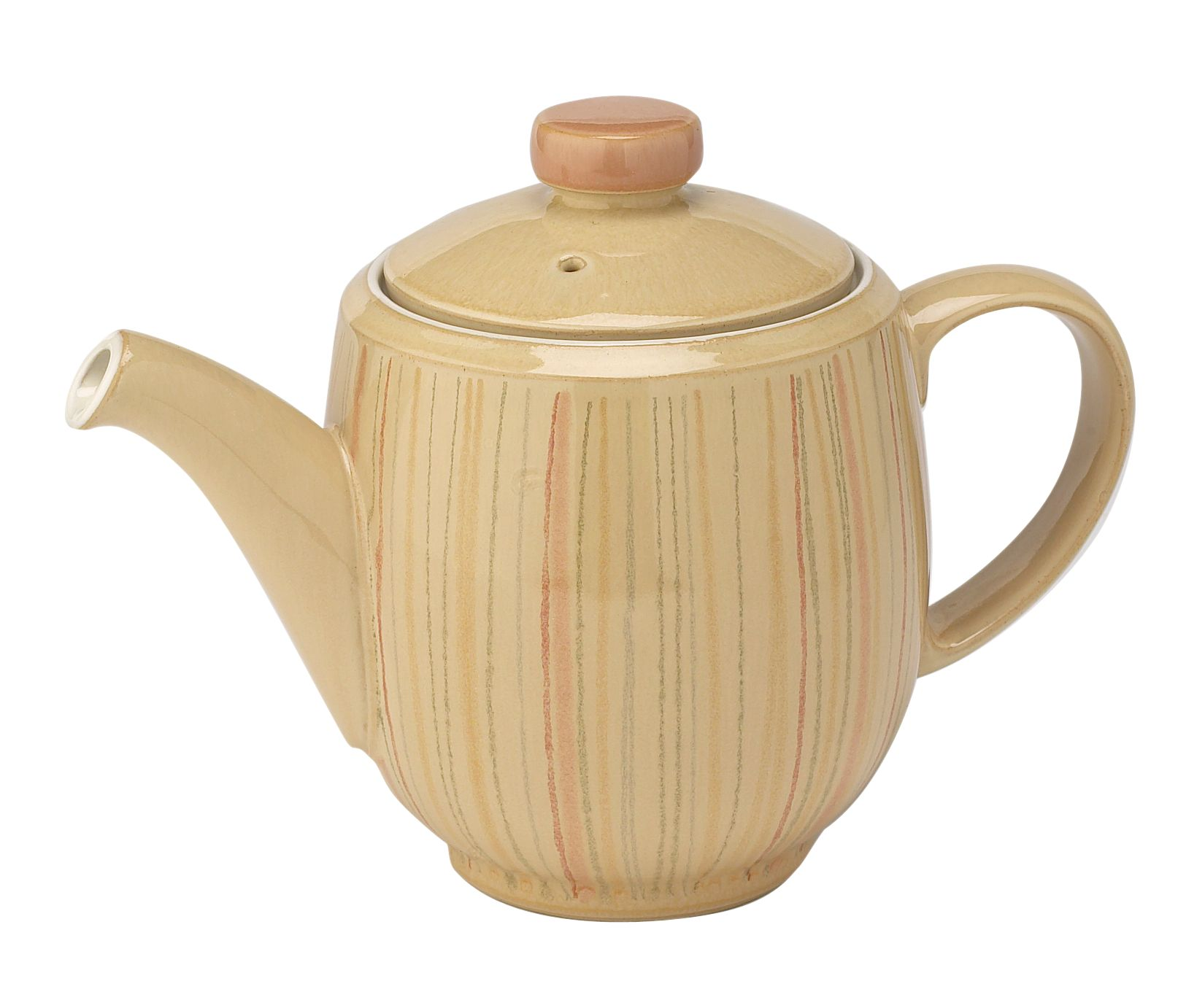 Caramel stripes teapot