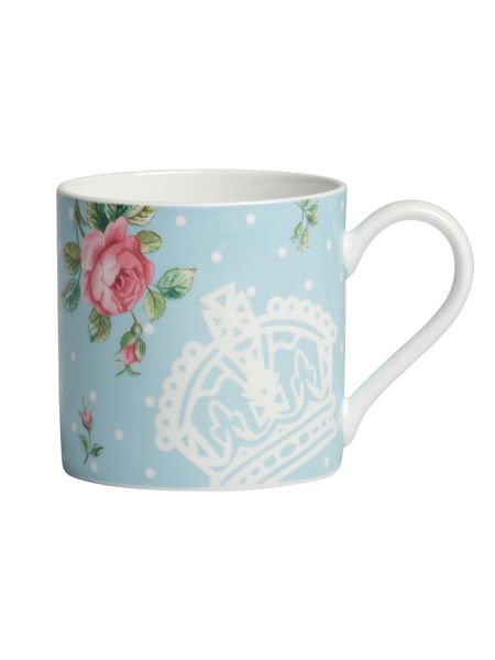 Royal Albert Polka blue modern ceramic mug