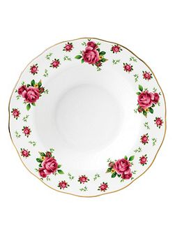 New country roses white bowl 24cm