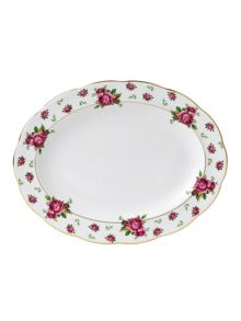 Royal Albert New country roses white oval platter 33cm