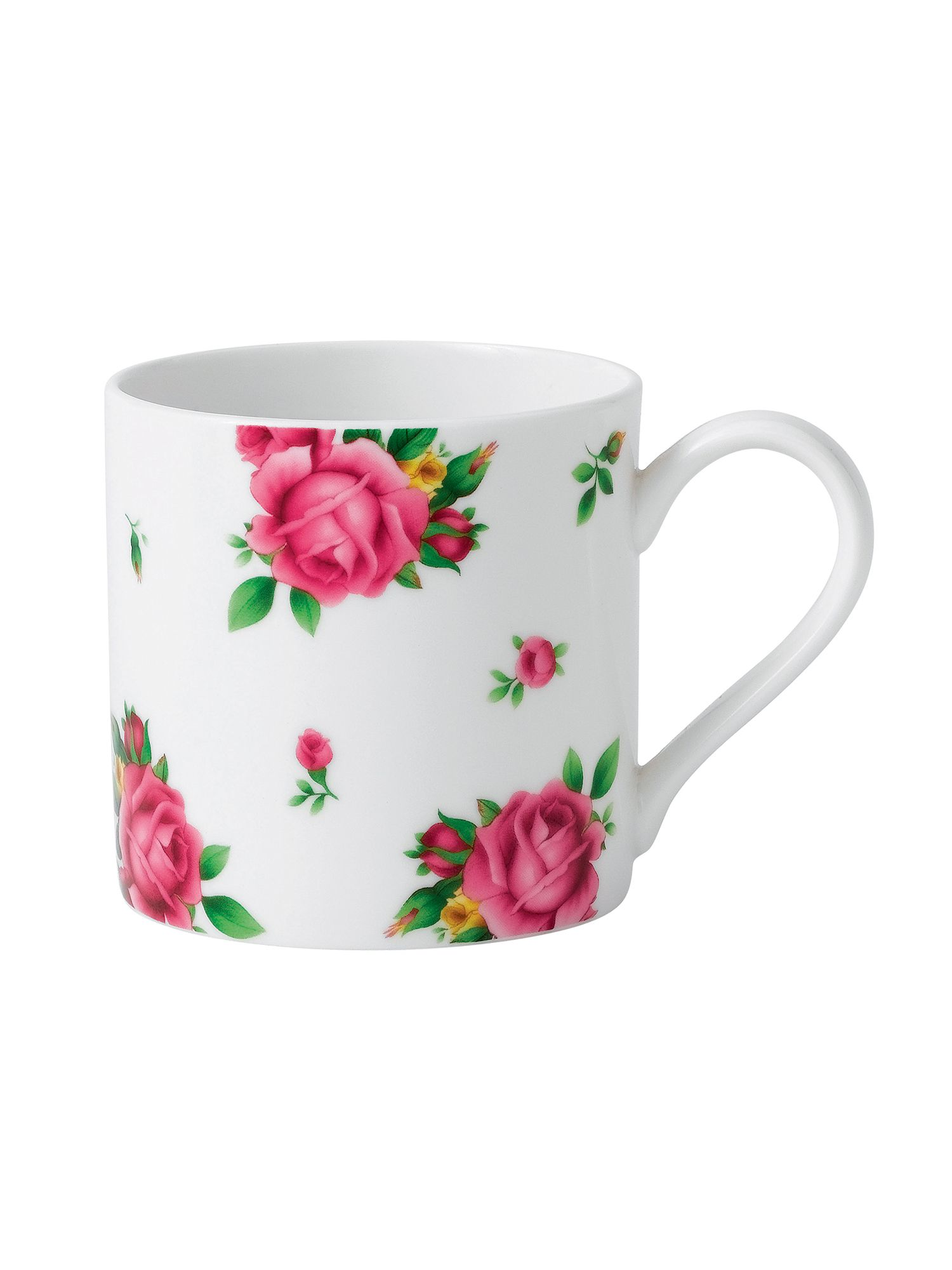 New country roses white casual modern ceramic mug