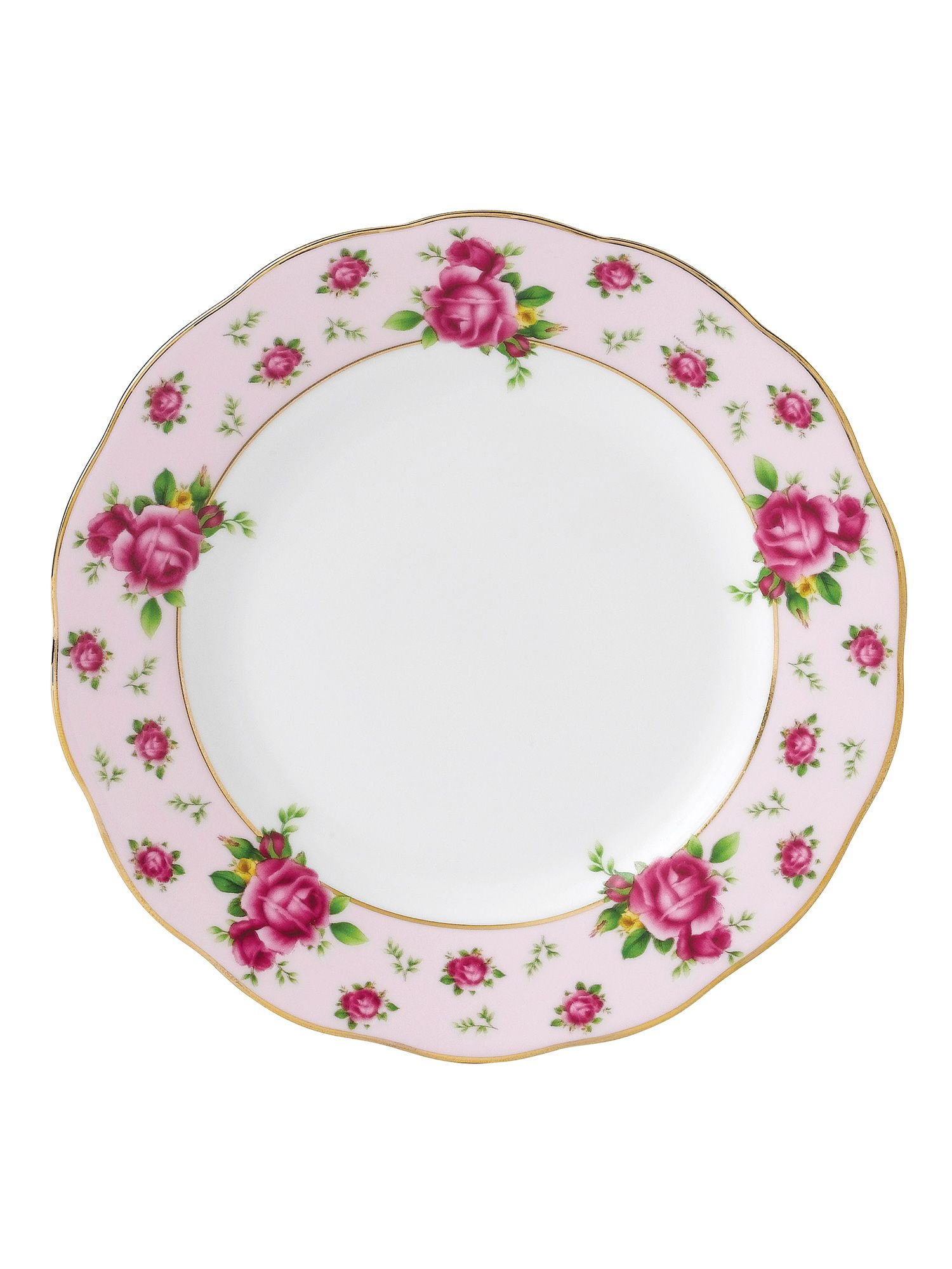 New country roses pink bread & butter plate 16cm