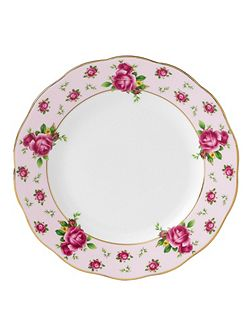 New country roses pink bread & butter plate