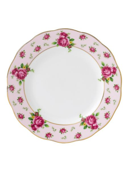 Royal Albert New country roses pink bread & butter plate 16cm