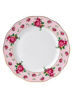 New country roses pink formal vintage plate 27cm