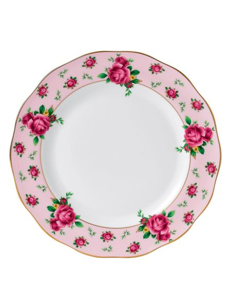 Royal Albert New country roses pink formal vintage plate 27cm