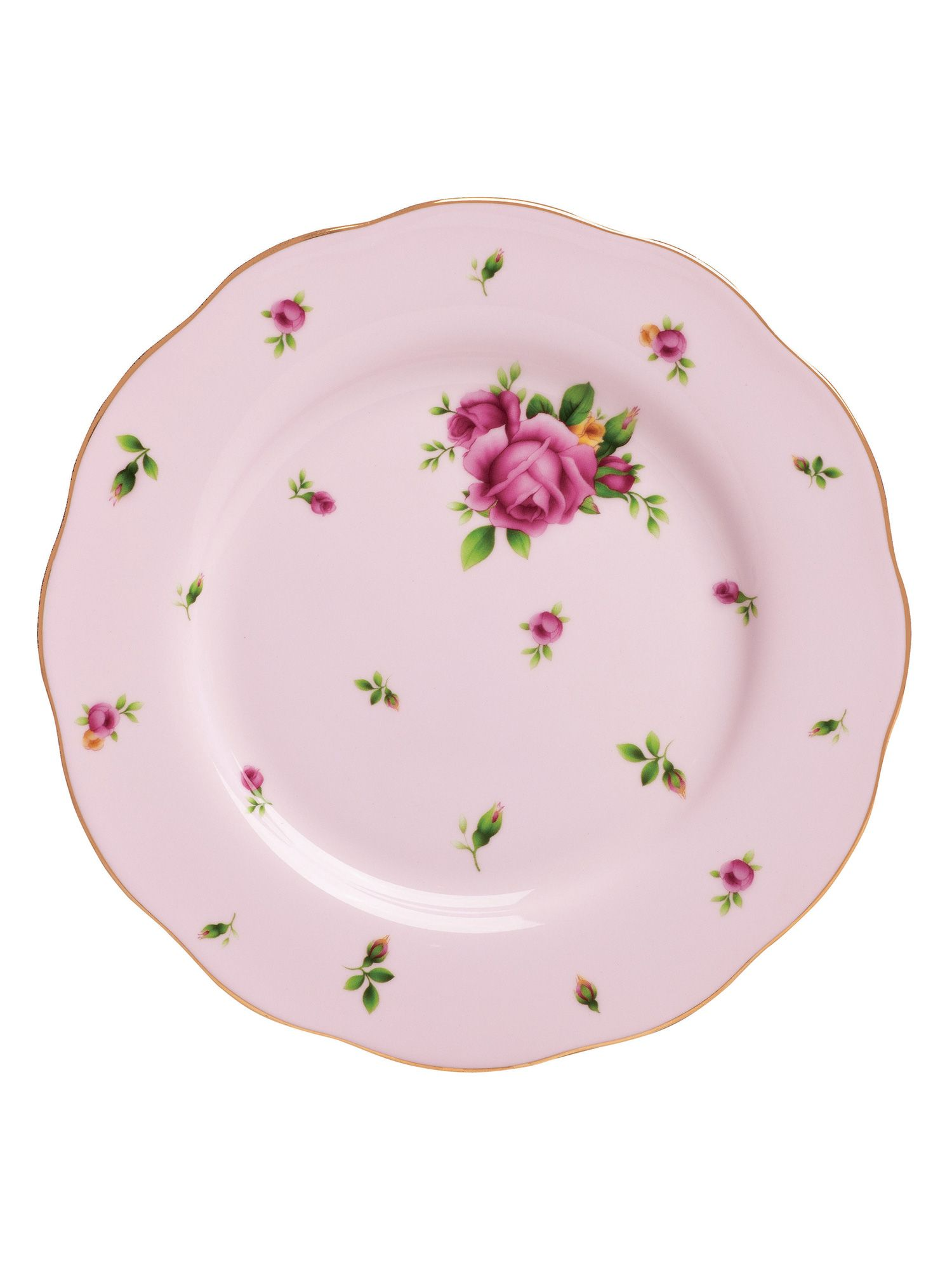 New country roses pink salad plate 20cm