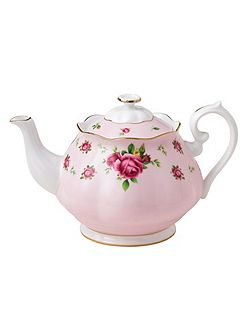 New country roses pink teapot 1.25 litre