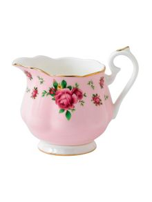 New country roses pink vintage creamer