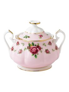 Royal Albert New country roses pink sugar bowl 0.35 litre