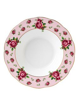 New country roses pink soup bowl 24cm
