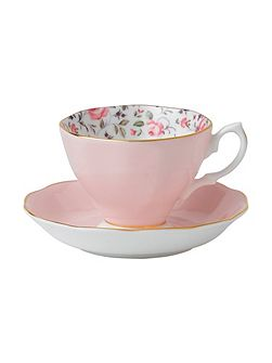 Rose Confetti Vintage tea cup and saucer set