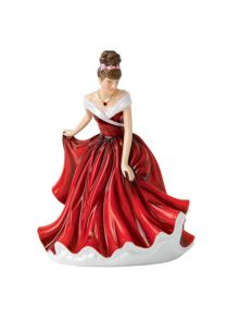 Royal Doulton Birthstone petites january - garnet