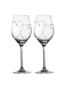Royal Doulton Toasting flute white wine pair