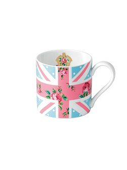 Cheeky pink modern union jack ceramic mug