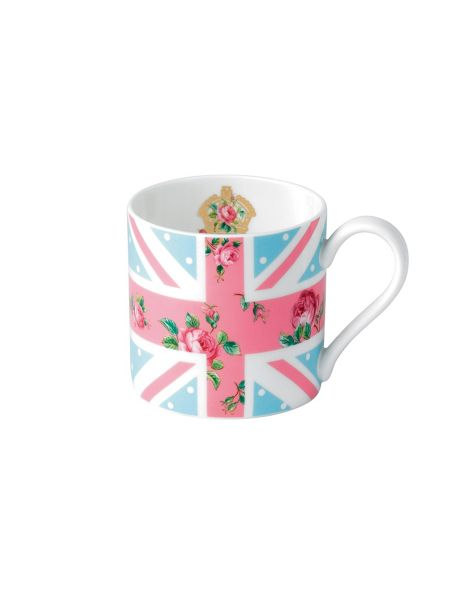 Royal Albert Cheeky pink modern union jack ceramic mug