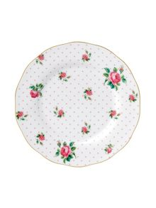 Royal Albert Cheeky pink vintage ceramic plate 20cm