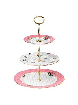 Cheeky Pink Vintage cake stand