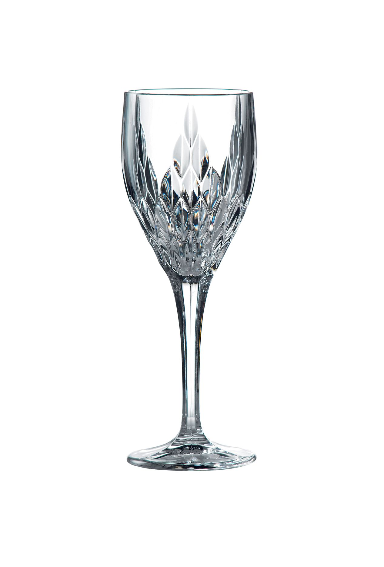 Retro crystal wine glasses - box of 6