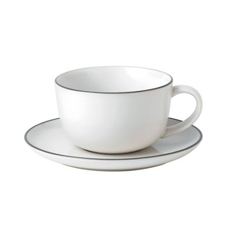 Royal Doulton Gr bread street breakfast cup & saucer white