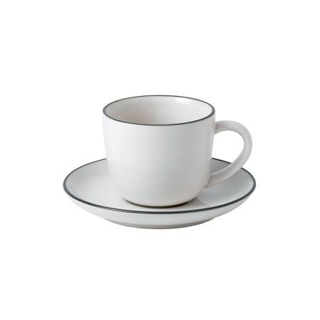 Royal Doulton Gr bread street espresso cup & saucer white