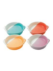 Royal Doulton 1815 bright colours ceramic set of 4 mini serving