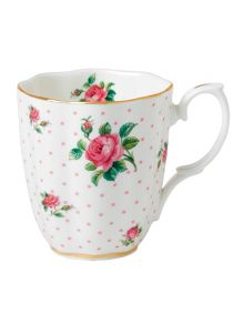 Royal Albert Pink roses vintage ceramic mug